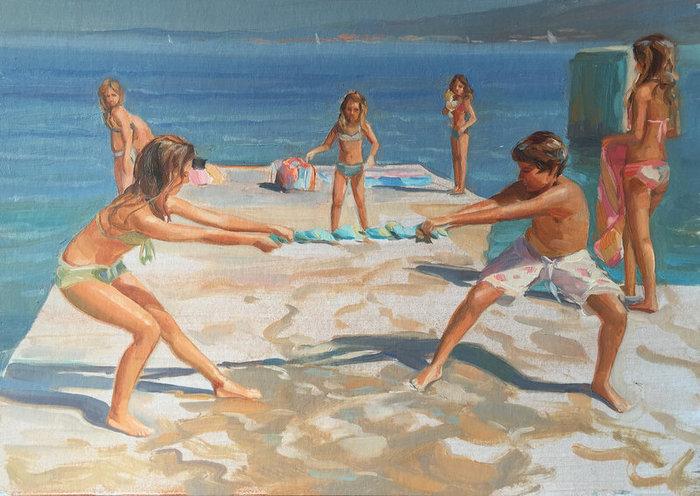 Радости лета Море, Рисунок, Пейзаж, Дети, Радость, Лето, Длиннопост