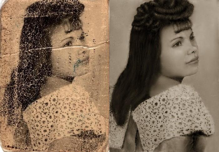 Реставрация фото Photoshop, Реставрация фото