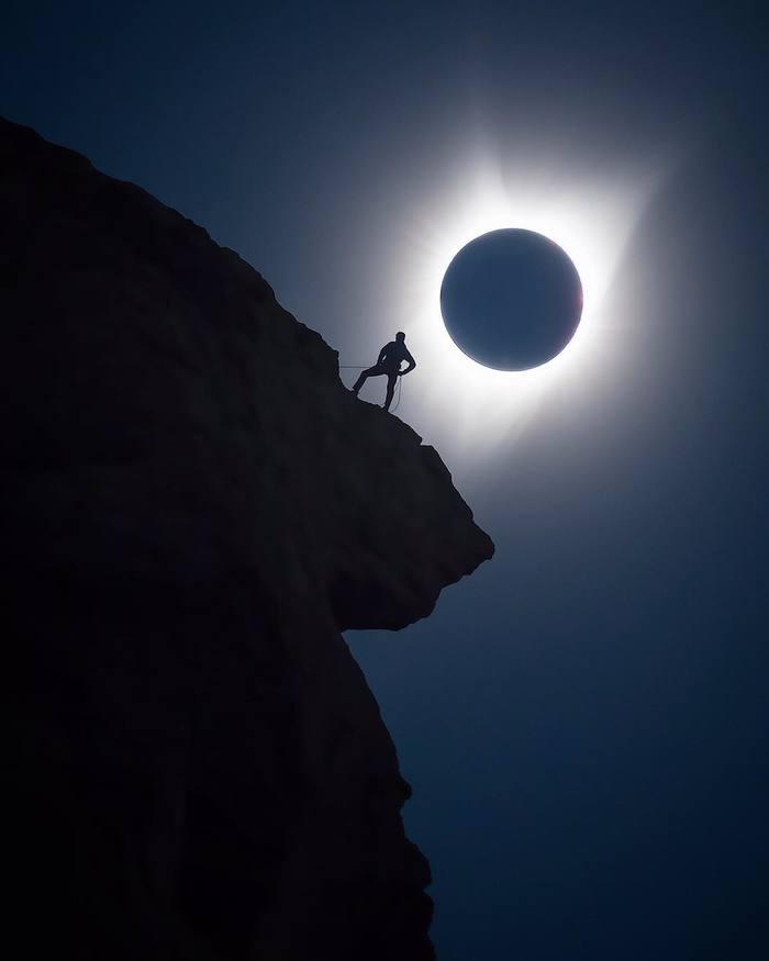 Солнечное затмение в Орегоне Солнечное затмение, Штат Орегон, Фотография, 2017, Длиннопост