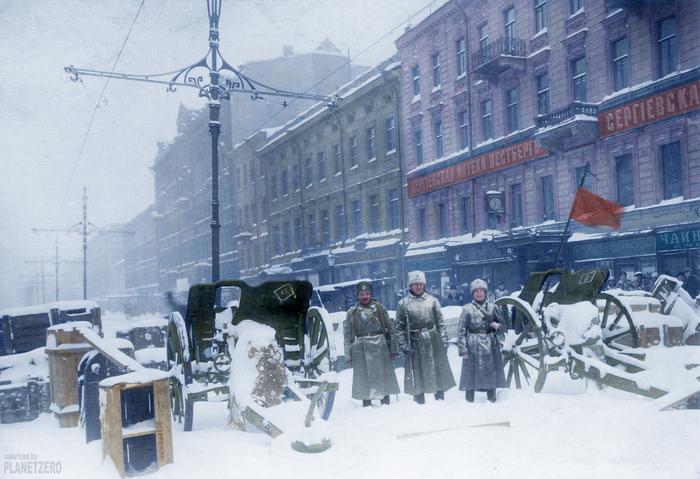 Петроград 1917. колоризация Революция, Россия, 1917, Колоризация