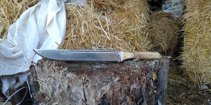Нож, просто. Нож, Рога, Дерево, Рукоделие без процесса