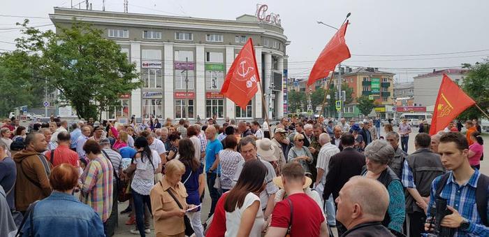 Митинги прошедшие 28 июля по всей России Россия, Митинг, Протест, Пенсионная реформа, КПРФ, Длиннопост, Фотография, Политика