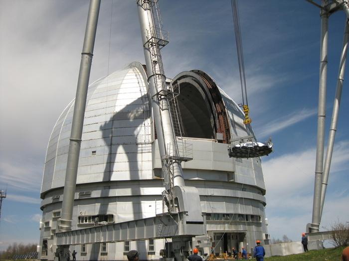 Ростех установил астрономическую оптику на самом большом в Евразии телескопе БТА, Карачаево-Черкесия, Телескоп, РАН, Обсерватория, Длиннопост