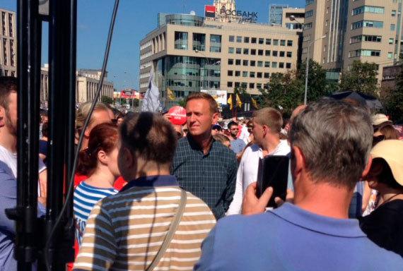 Навальный показал на митинге, чем отличается от «простого русского оппозиционера». Политика, Алексей Навальный, Загар, Митинг, Длиннопост