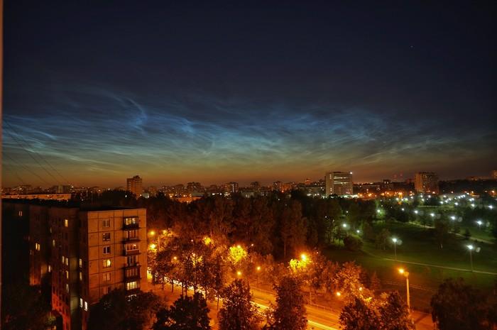Ночь. Небо. Облака Небо, Санкт-Петербург, Ночь, Ночь улица фонарь аптека, Облака, Серебристые облака, Фотография
