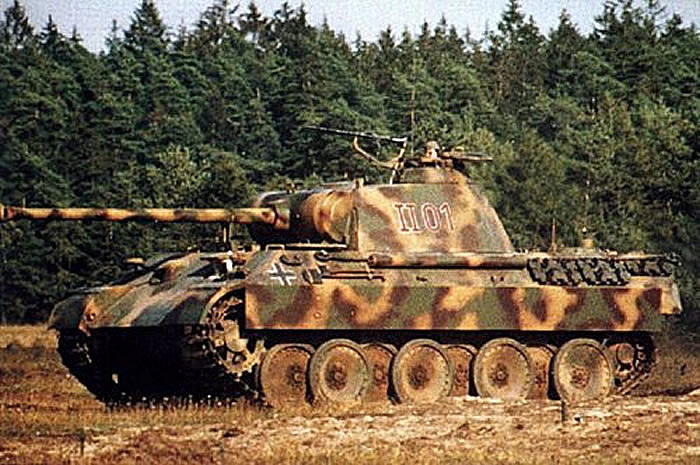 How does the German tank
