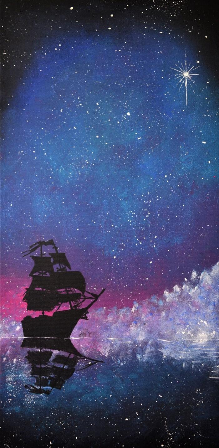 Вслед за полярной звездой Пятничный тег моё, Акрил, Творчество, Черная жемчужина, Звезда
