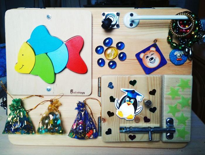 Сделали бизиборд для маленькой Софы Бизиборд, Развивающее, Дети, Подарок, Своими руками, Рукоделие без процесса, Длиннопост
