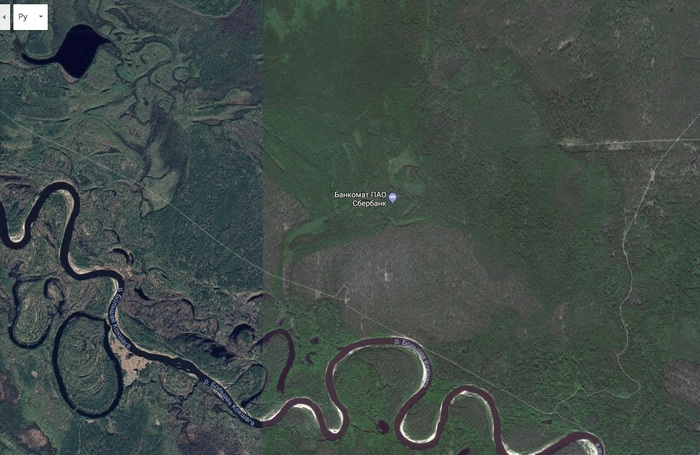 Банкоматы в лесу Банкомат, Лес, Google maps