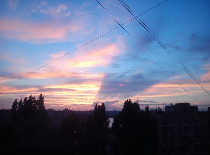 Тень от облака на облаке Облака, Фотография, Солнце, Закат, Красота