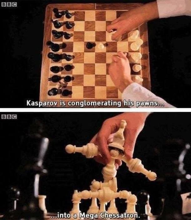Как сделать шахматы зрелищнее Каспаров, Шахматы, Юмор