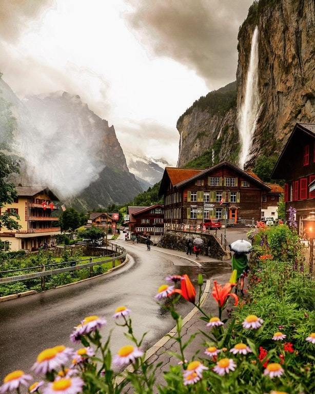 Дождливый день в Швейцарии