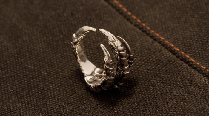 Кольцо из вороньей лапы Ювелирные изделия, Литье, Ворона, Кольцо, Длиннопост