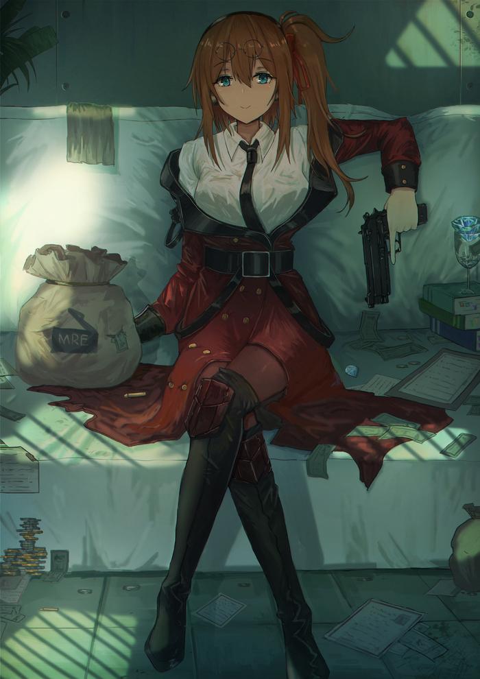 Kalina Аниме, Anime Art, Girls frontline, Калина