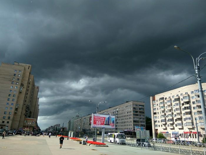 Небо в Питере Гроза, Небо, Санкт-Петербург