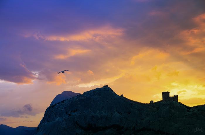 Генуэзская крепость Начинающий фотограф, Pentax, k-30, Tamron 17-50, Закат, Крепость