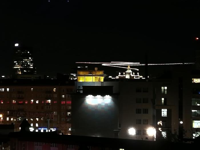 Немного любительского фото из окна Фотография, Huawei p20 lite, Москва-Сити, Ночь, Вид с балкона, Длиннопост