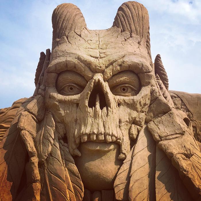 12 тысяч тонн песка превратились в драконов и троллей Ютландия, Фестиваль, Песчаная скульптура, Фотография, Дракон, Тролль, Песок, Дания, Длиннопост