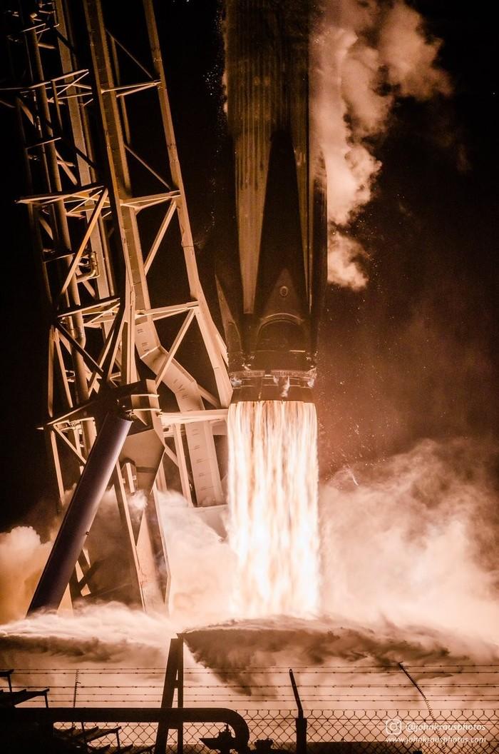 Запуск Falcon 9 прошлой ночью Космос, Ракета-Носитель, Запуск ракеты, Spacex, Falcon 9