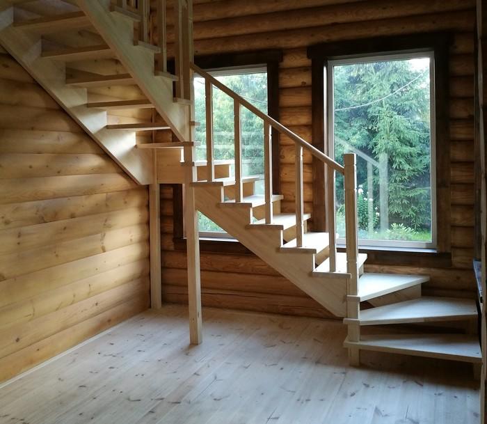 Лестница в деревянном доме Дом из бруса, Лестница, Интерьер, Дизайн, Дача ремонт дома, Длиннопост