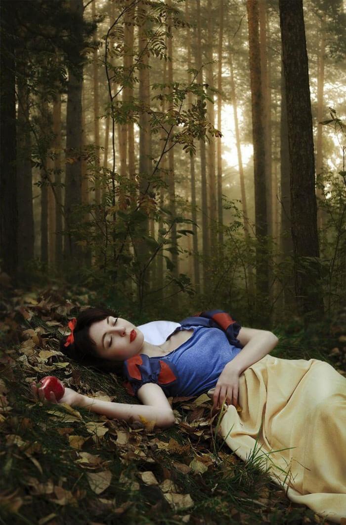 Сказочные мечты.Сон или явь? Картинки, Сказка, Красивая девушка, Длиннопост, Яблоки, Белоснежка, Photoshop