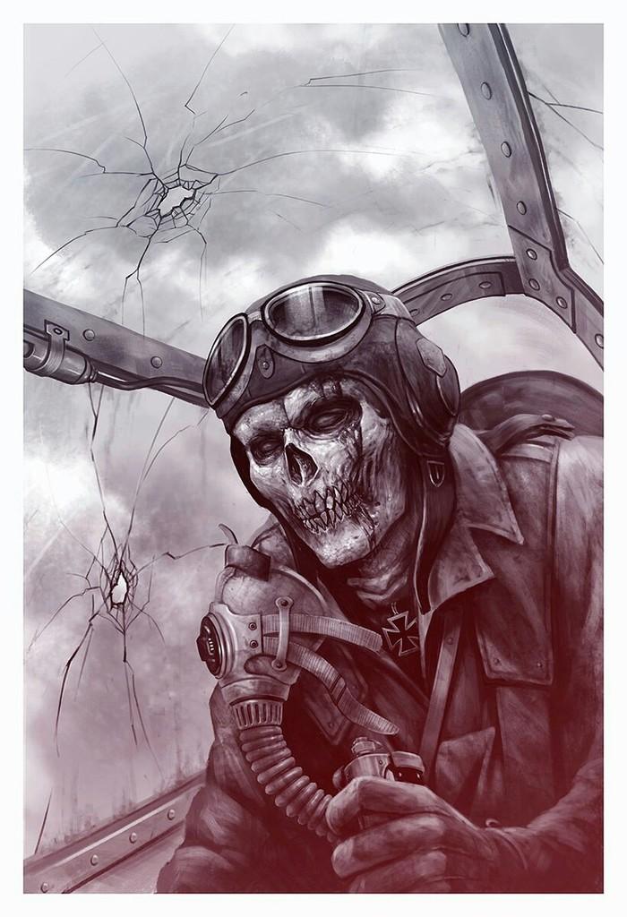Потерянное небо Небо, Самолет, Bf109, Война, Рисунок, Длиннопост, Пути ненависти, Иллюстрации, Цифровой рисунок