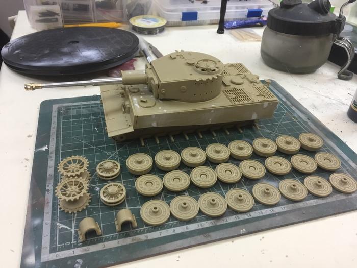 Стройка окраска за 7 дней танка Tiger I Nachtjger Стендовый моделизм, Хобби, Tamiya, Бтт, Длиннопост, Танки, Tiger i