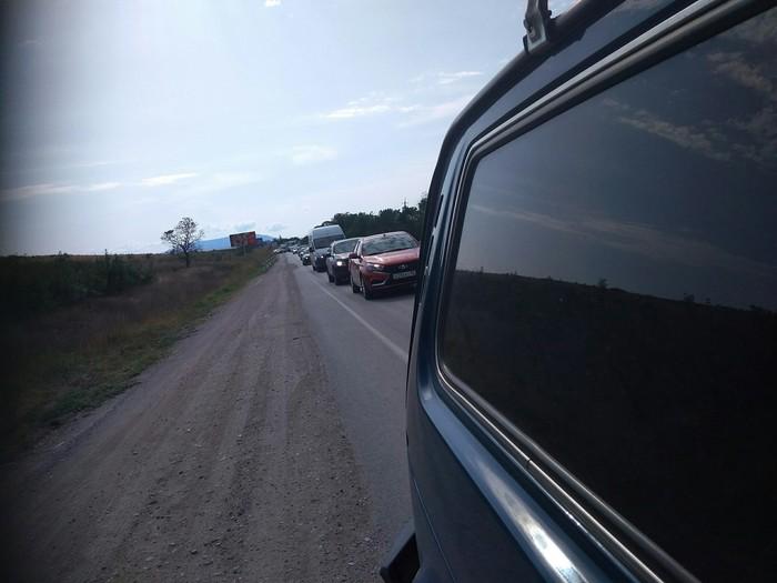 Обочина и её обитатели Крым, Обочечники, Карма, Лето, Длиннопост, Пробка на дороге