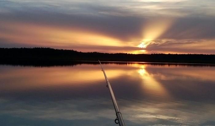Закат. Рыбалка. Закат, Озеро, Рыбалка, Вечер, Удочка