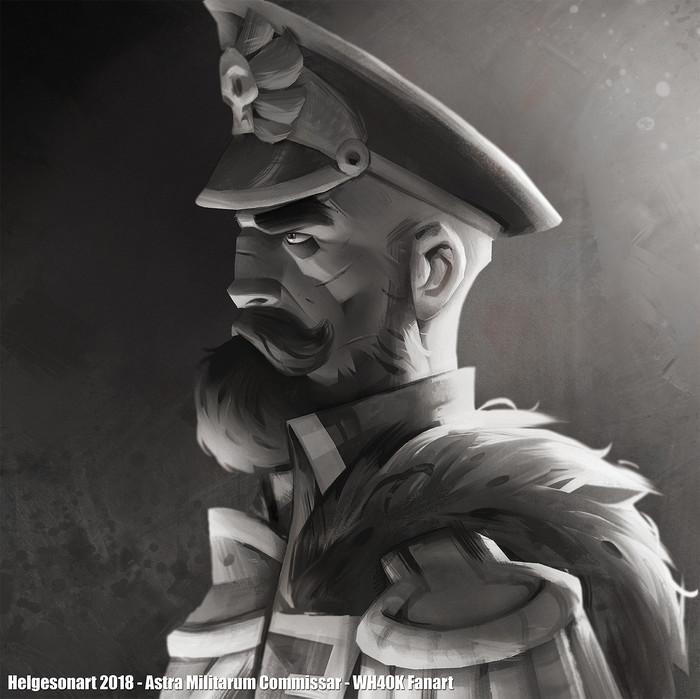Портреты Warhammer 40k, Wh art, Eldar, Орки, Комиссар, Длиннопост