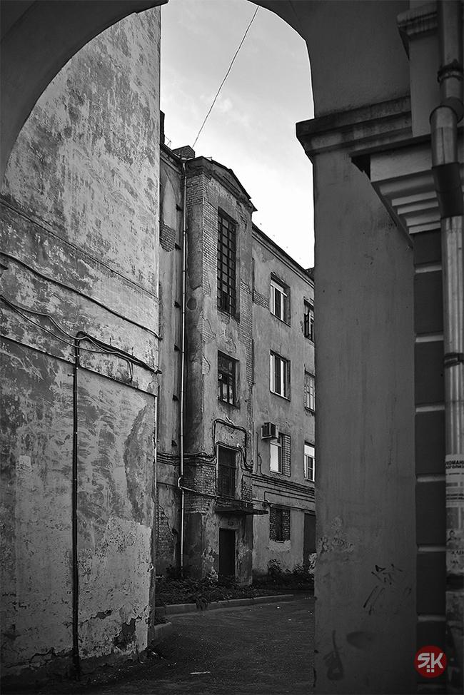 Двор Фотография, Двор, Коммуналка, Арка, Черно-Белое, Кострома