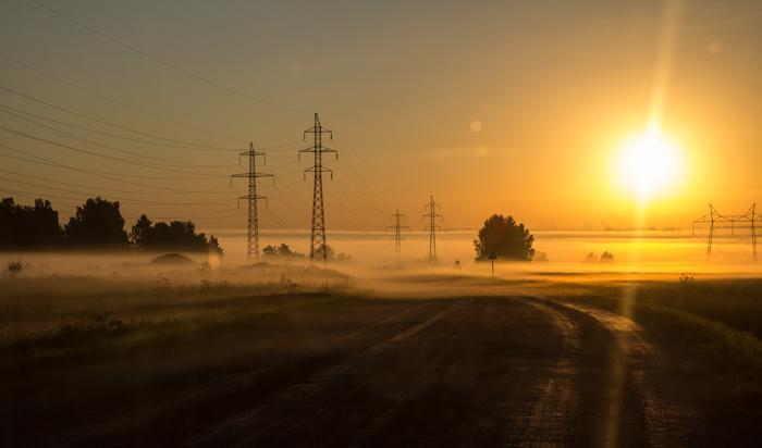 Вечный взрыв... Фотография, Рассвет, Солнце, Туман, Кузбасс, Уроп