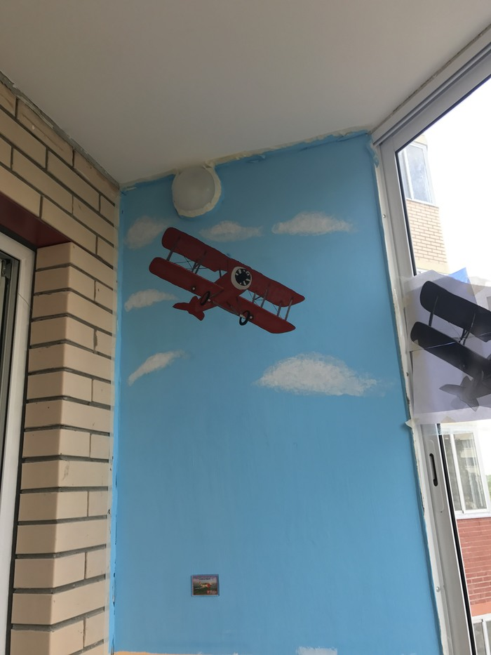 Мой балкон Балкон, Ремонт, Рисунок на стене, Самолет, Сова, Мото, Своими руками, Длиннопост