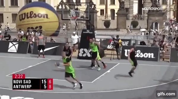 Красиво Спорт, Баскетбол, Стритбол, Пас, Гифка