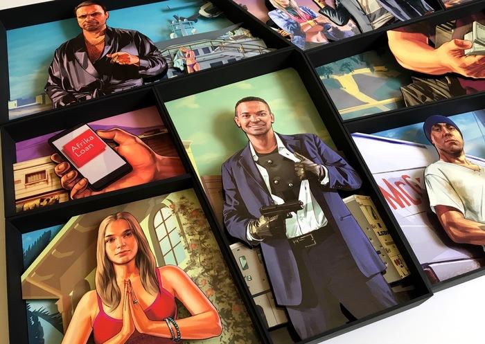 Диорама в стиле GTA V GTA, Своими руками, Ручная работа, Картина, Диорама, Diorama, Grand theft auto five, GTA 5, Длиннопост