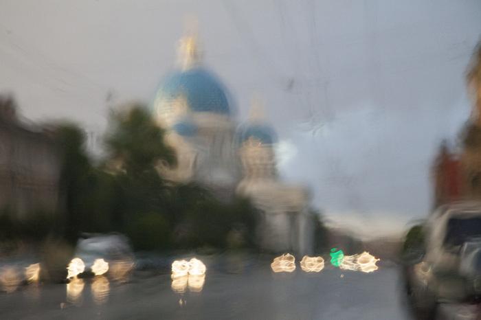 Питер вернулся Санкт-Петербург, Дождь, Радуга, Троицкий собор