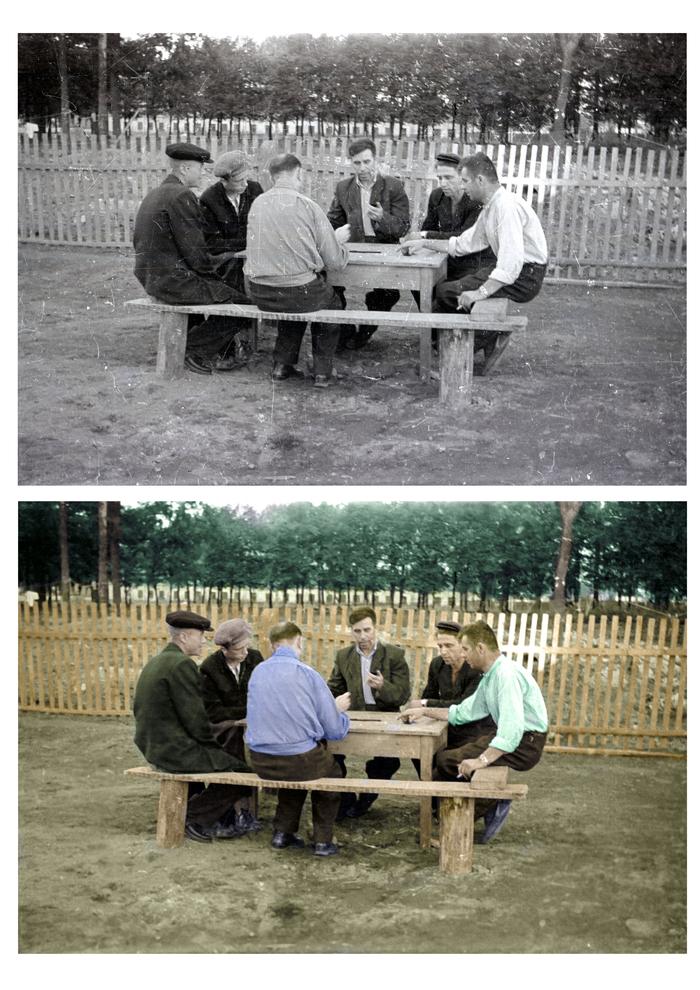 Колоризация Photoshop, Графический дизайн, Раскраска, Старое фото, СССР, Дизайнер