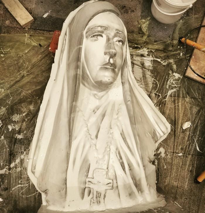 Формовка портрета Скульптура, Процесс