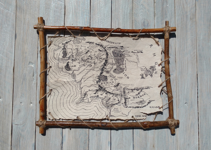 Средиземье. Завершение. Карта мира, Средиземье, Толкин, Своими руками