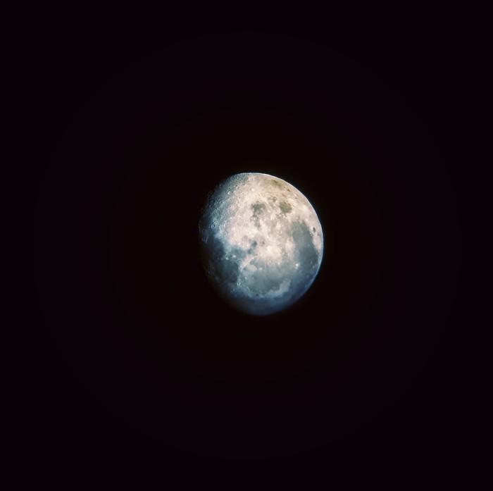 Луна Луна, Мобильная фотография, Ночь, Snapseed, Новосибирск