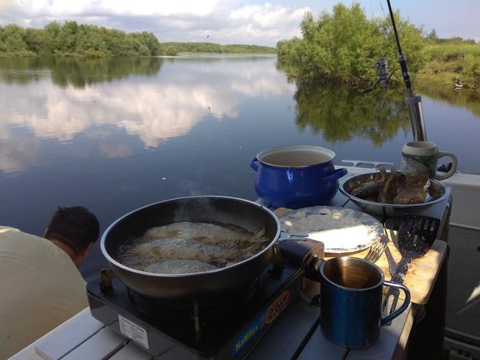 Рыбный день. Река Лена