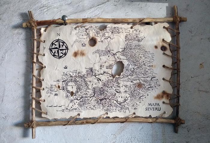 Карта Севера. Вселенная Ведьмака. Ведьмак, Сапковский, Карта мира, Своими руками, Длиннопост