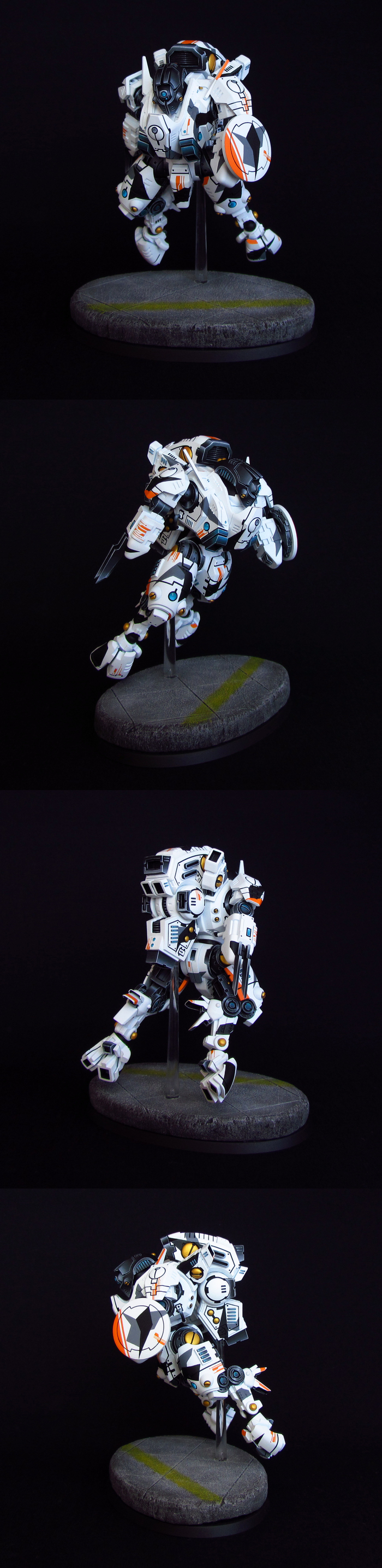 XV95 Ghostkeel Warhammer 40k, WH Miniatures, Tau, Miniatures, Миниатюра, Роспись, Длиннопост