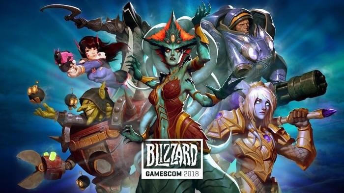 Официальный постер игр Blizzard Entertainment на GAMESCOM 2018.