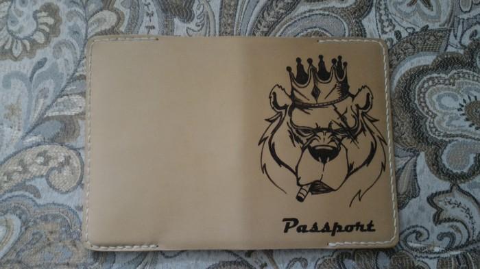 Новая обложка на паспорт с пирографией. Кожа, Обложка, Обложка для паспорта, Выжигание, Пирография, Длиннопост