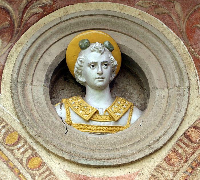 Джованни делла Роббиа (1469—1529) Архиепископ, Скульптура, Майолика, Святые, Длиннопост