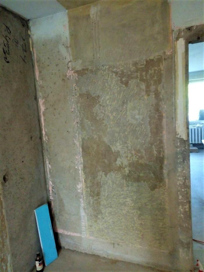 До какого состояния счищать краску с бетонных стен? Ремонт, Хрущевка, Панельный дом, Краски, Длиннопост