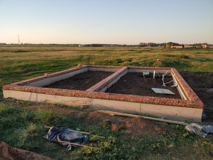 Строю свой дом ч.2 Строительство, Своими силами, Казахстан, Мой дом, Септик, Стяжка, Длиннопост