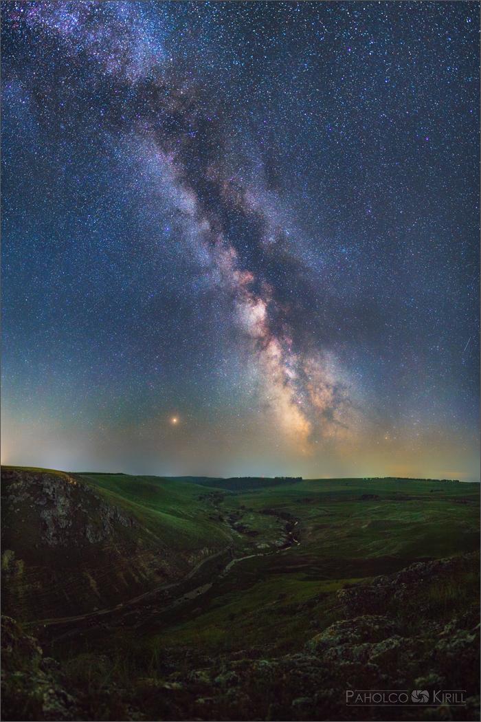 Немного млечного пути Астрофото, Млечный путь, Пейзаж, Звёзды