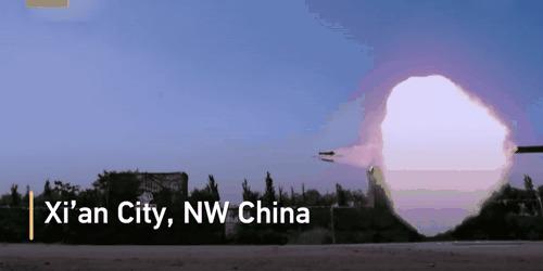 Впечатляюще Снаряд, Китай, Оружие, Выстрел, Танки, Гифка, Slow motion